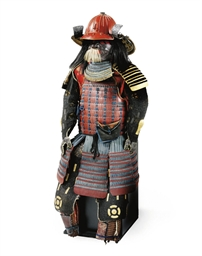 A JAPANESE SUIT OF ARMOUR WITH