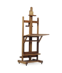 A FRENCH OAK EASEL