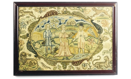 A CHARLES I SILKWORK PICTURE