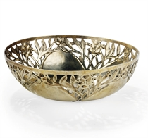 A LATE VICTORIAN ARTS AND CRAFTS SILVER-GILT BOWL