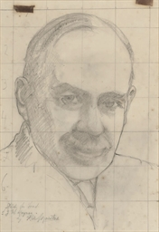 Study for head of J.M. Keynes
