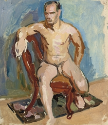 Portrait of a nude model