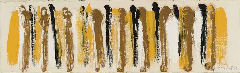 Ochre, Black, Yellow and White