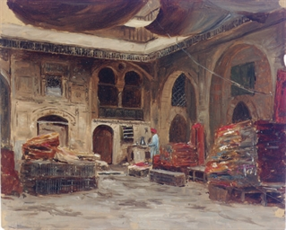 A rug merchant's bazaar