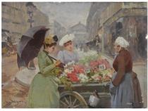 The Flower Market at the Madeleine