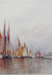 Venetian fishing fleet heading