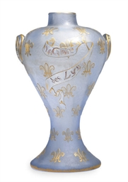 A FRENCH GILT AND ETCHED GLASS