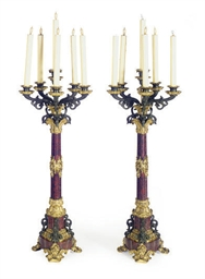 A PAIR OF NAPOLEON III PATINAT