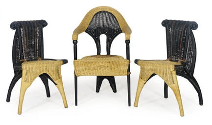 A SUITE OF ITALIAN RATTAN SEAT