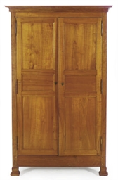 A FRENCH CHERRYWOOD ARMOIRE,