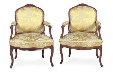 A PAIR OF LOUIS XV FRUITWOOD A