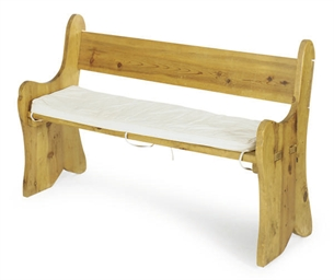 A PINE SETTLE BENCH,