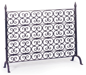A WROUGHT IRON FIRESCREEN,