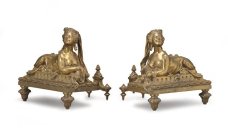 A FRENCH PAIR OF ORMOLU FIGURA