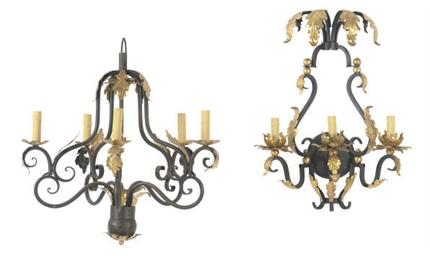 A WROUGHT-IRON AND PARCEL-GILT