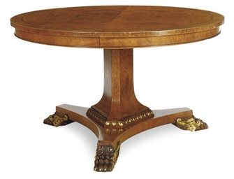 A FRUITWOOD AND PARCEL-GILT EX