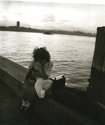 Couple on a pier, N.Y.C. 1963