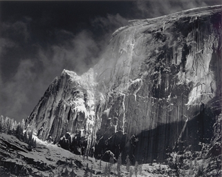Half Dome Blowing Snow, 1955