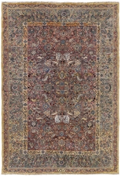 A PART SILK TABRIZ CARPET