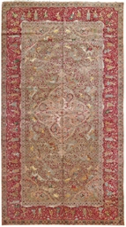 A PART-SILK INDO-TABRIZ CARPET