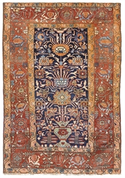 A SILK HERIZ PRAYER RUG