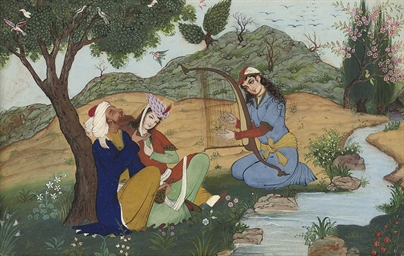 A LATE QAJAR MINIATURE OF A DR