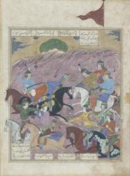A BATTLE SCENE, SAFAVID IRAN,
