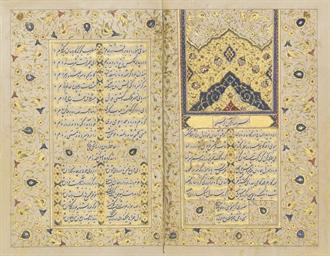 A QAJAR DIWAN OF HAFIZ, SIGNED, IRAN, 19TH CENTURY