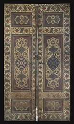 A PAIR OF QAJAR DOORS, IRAN, 1