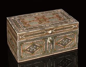 A LARGE KATAMKARI BOX, IRAN, E