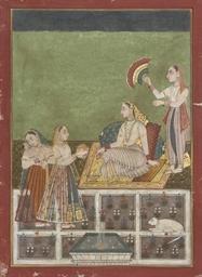 WOMEN ATTENDING A NOBLEWOMAN,