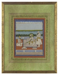 A PORTRAIT OF A SIKH GURU AND