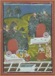 KRISHNA PLAYS WITH THE GOPIS,