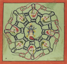 KRISHNA IN A MANDALA OF SNAKES