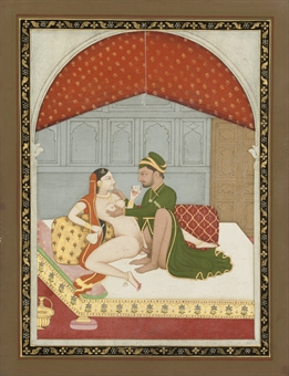 A LARGE GROUP OF EROTIC PAINTINGS, INDIA, 18-20TH CENTURY
