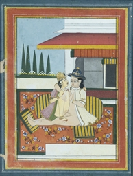 TWO EROTIC PAINTINGS, JAIPUR,