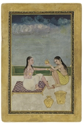 TWO WOMEN BATHING, PROVINCIAL