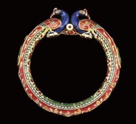 A GEM-SET POLYCHROME-ENAMELLED