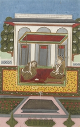COUPLE IN A PAVILION, HYDERBAD