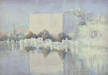 A PAINTING OF UDAIPUR, SIGNED