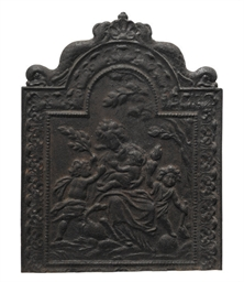 A DUTCH CAST-IRON FIREBACK