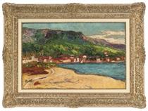 Houses along the shore