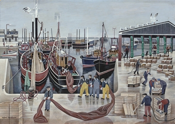 Fishing fleet in the harbour