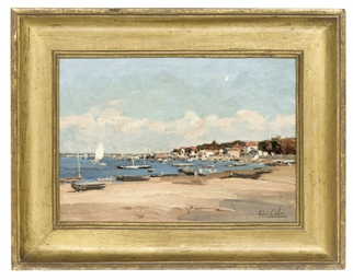 Seashore with boats