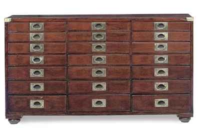 A LATE VICTORIAN MAHOGANY COLL