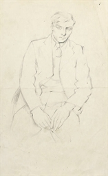 Study of a seated man; A seate
