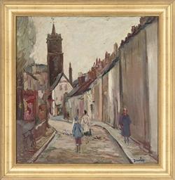 Figures in a quiet street