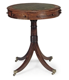 A LATE REGENCY ROSEWOOD DRUM T