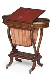 A REGENCY ROSEWOOD AND BOXWOOD
