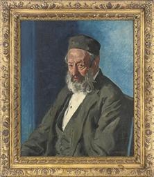 Portrait of a Rabbi, seated ha
